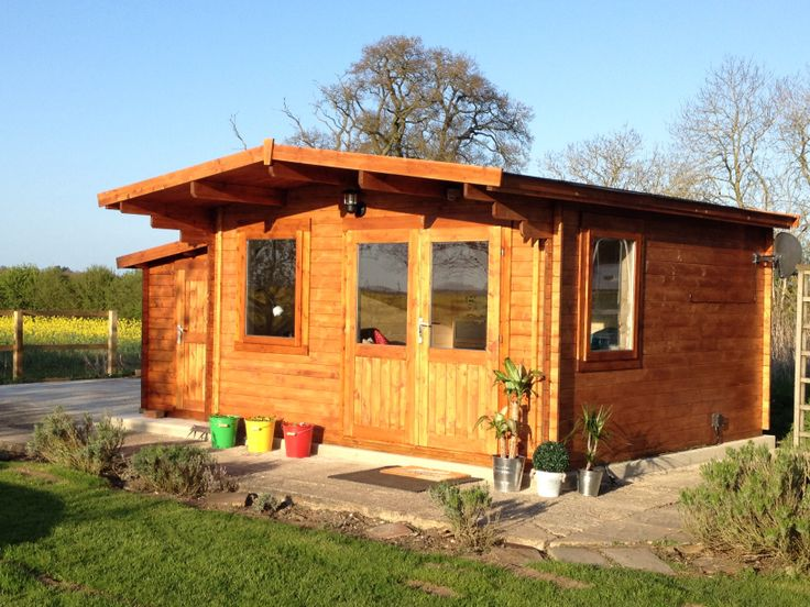 Philippa has become the fun mum with her multipurpose #logcabin, 'Teenage den blended with a therapy #treatmentroom, not at the same time though!' #garden #gardenbuilding