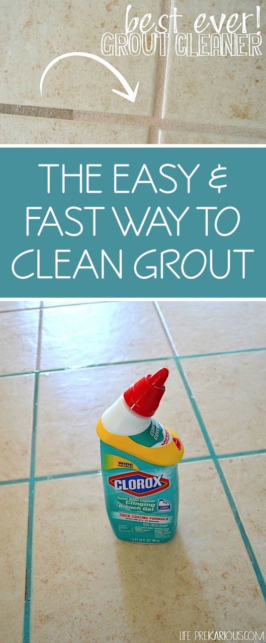 DIY grout cleaner for tile! For kitchens, bathrooms and more. -- A list of cleaning tips and tricks for lazy people (for the bathroom, bedroom, kitchen and more!). Listotic.com