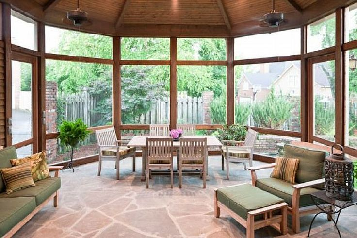 Contemporary Screened Porch Design Ideas Mi Casa Pinterest