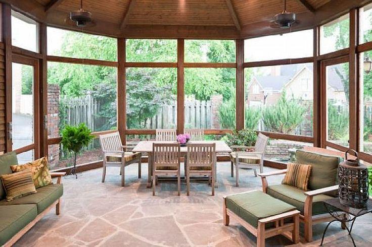 Diy Home Design Ideas Com: Contemporary Screened Porch Design Ideas