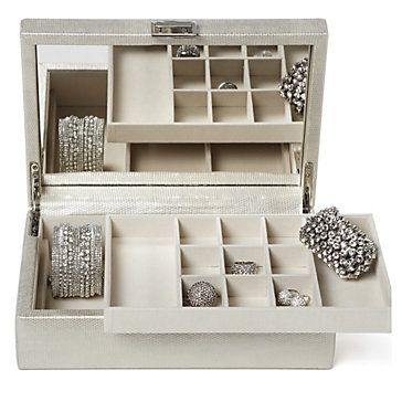 Store Your Baubles In A Faux Snakeskin Jewelry Box. $39.95 #ZGallerie