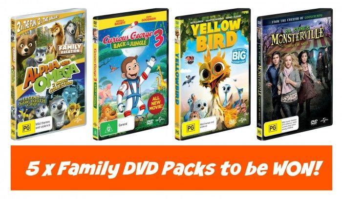 5 x Family DVD Packs to be Won!