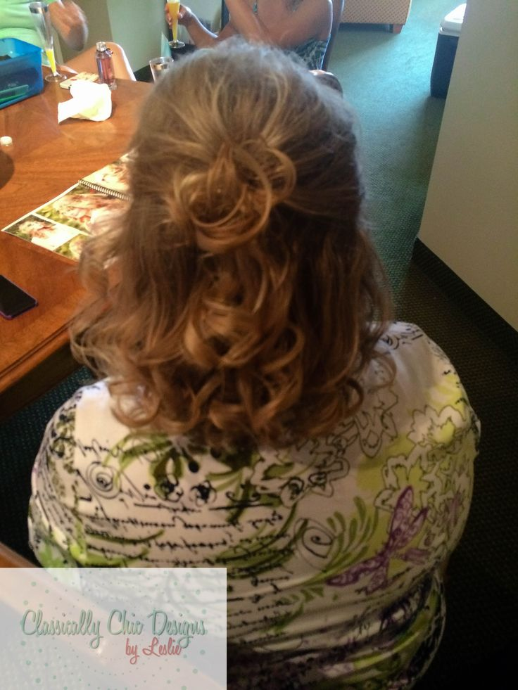 Mother of the Bride simple half up hairstyle. Classically Chic Designs by Leslie. www.ccdbyleslie.com