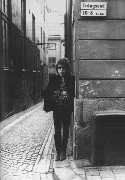 Bobby in Stockholm, during his Bob Dylan World Tour 1966.