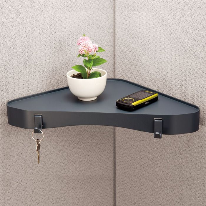 24 best images about cubette coolness on pinterest coat for Office corner shelf