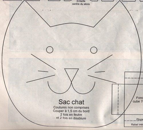 Couture et ouvrages - Patron sac-chat