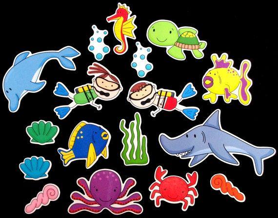 Scuba Kids Magnet Board Activity Set byMaree on Etsy, $20.00