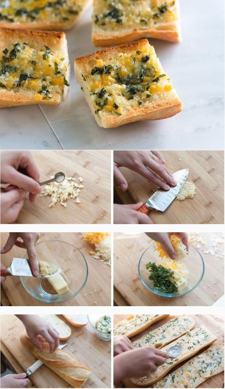 Easy Cheese Garlic Bread with Basil