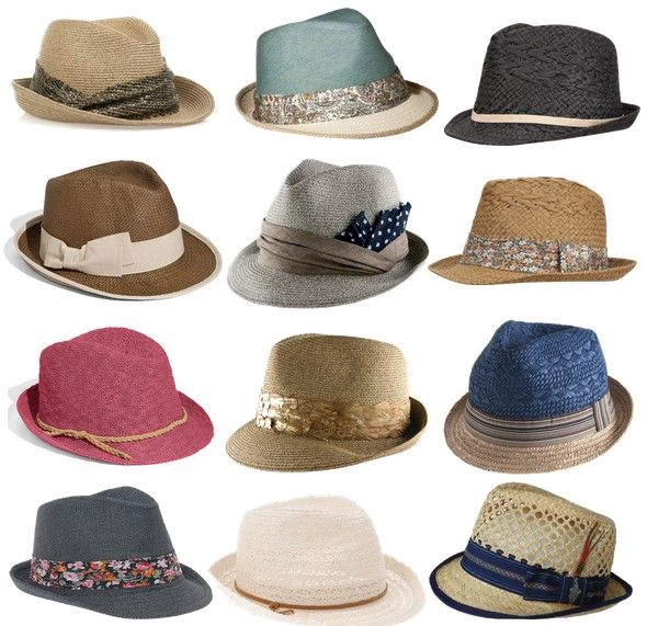 hats hats hats. I love the white one!! <3