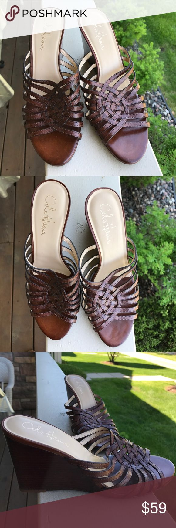 Cole Haan wedge sandals size 6.5 Very gently used. Super comfy Cole Haan wedge sandals. Cole Haan Shoes Wedges