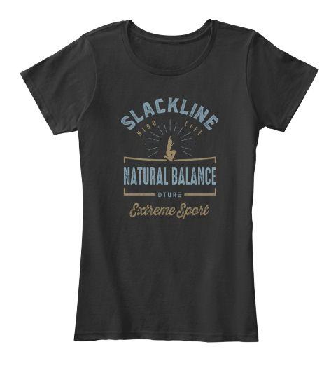 Slackline T Shirt Black T-Shirt Front