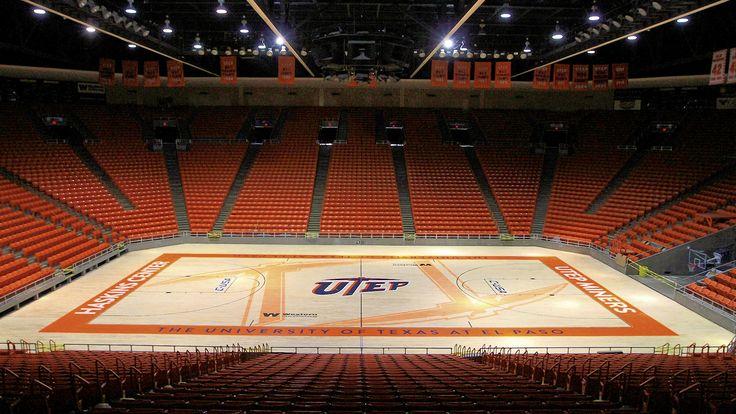 Don Haskins Center basketball court at UTEP