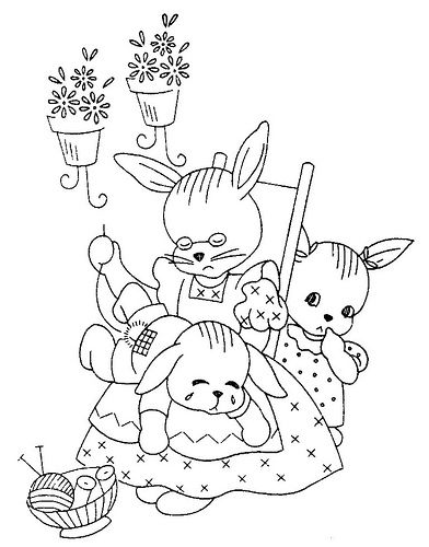 bunny embroidery pattern