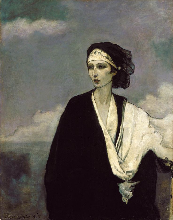 Ida Rubinstein (1917). Romaine Brooks (American, 1874-1970). Oil on canvas. Smithsonian American Art Museum. Beautiful and free, Ida Rubinstein (Russian, 1885-1960) not only fueled the Ballets Russes with her sensuality, she also inspired many artists and more particularly the painter Romaine Brooks with whom she had a passionate love affair and to whom she was a striking nude model (as Venus) as well as for this portrait.