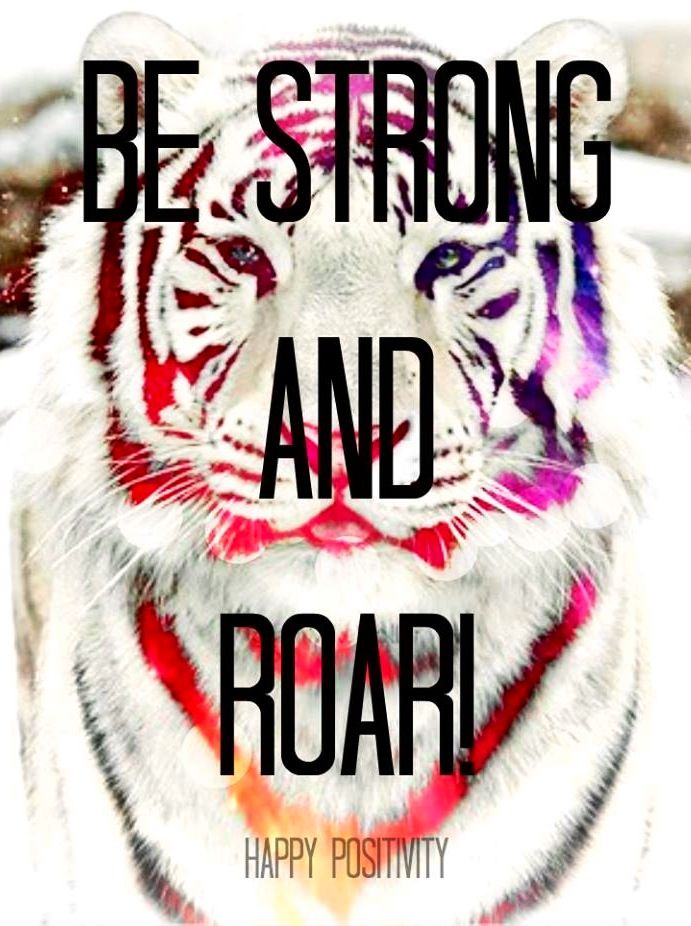 Be strong quote via www.Facebook.com/Happy.Positivity