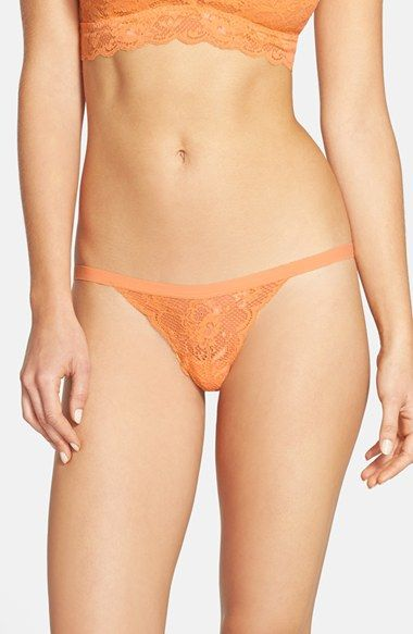 Women's Cosabella 'Never Say Never Skimpie' G-String - Orange