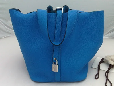 HERMES PICOTIN TOTE size MM in BLUE MYKONOS TOURILLON CLEMENCE ...