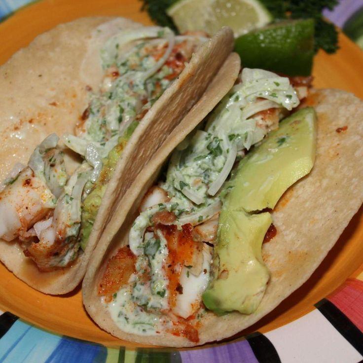 Blackened tilapia baja tacos recipe tacos fish tacos for Fried fish taco recipe