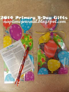 Nap Time Journal: LDS Primary 2014 Birthday Gifts