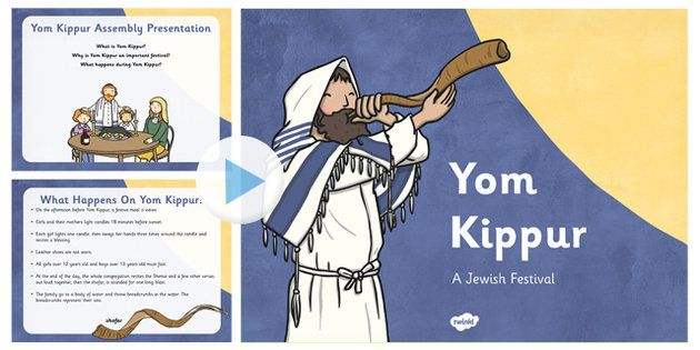 * NEW * Yom Kippur Assembly Presentation - An assembly lesson presentation to support your teaching of Yom Kippur and introduce the children to the key elements of the important Jewish festival.