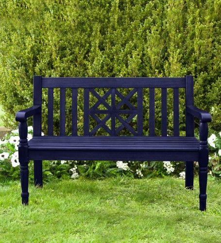 Eucalyptus Outdoor Garden Bench With Legacy Diamond Design With