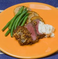 Lots of venison recipes from Ohio DNR site.    Horseradish Crusted Venison Tenderloin