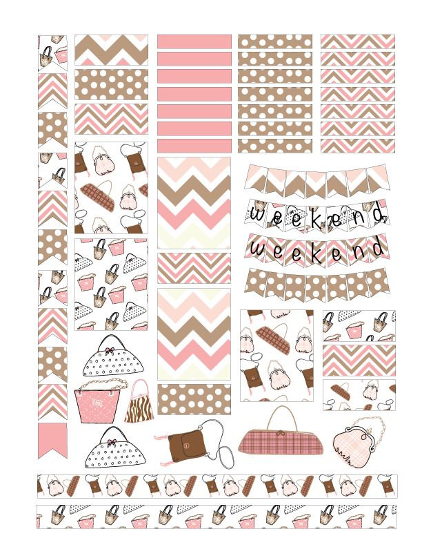Free Purse Planner Sticker Printables