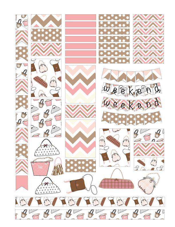 FREE Purse Planner Sticker Printables