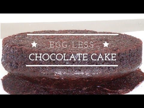 No Butter Eggless Chocolate Cake - Moist Eggless Chocolate Cake