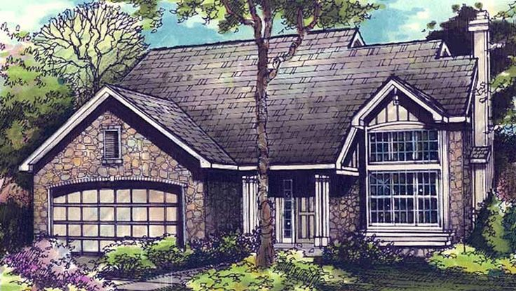 Bungalow House Plan with 1567 Square Feet and 3 Bedrooms(s