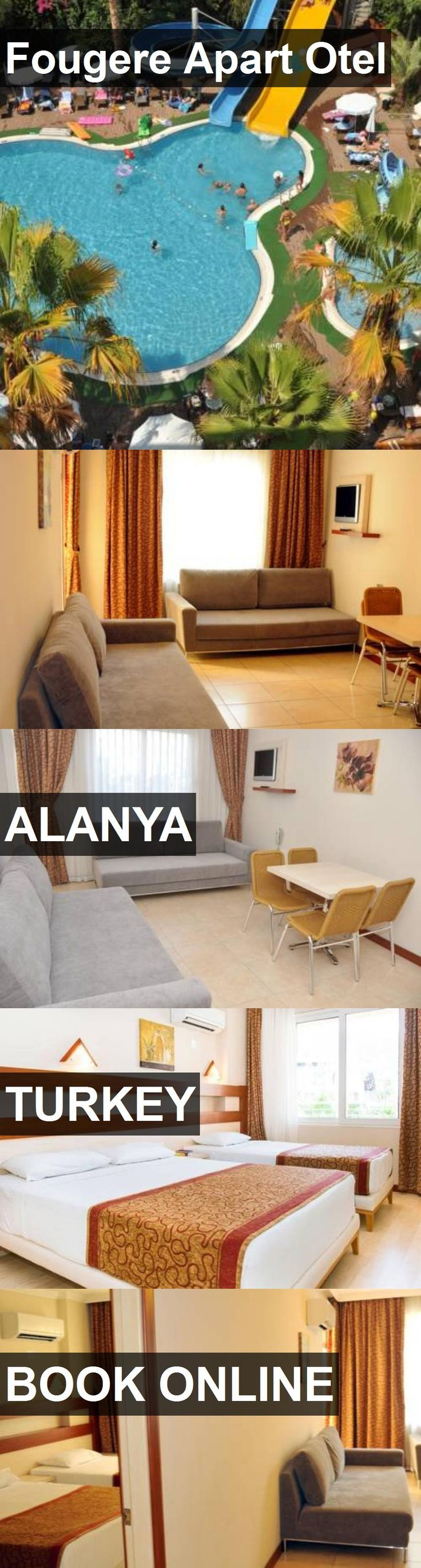 Hotel Fougere Apart Otel in Alanya, Turkey. For more information, photos, reviews and best prices please follow the link. #Turkey #Alanya #travel #vacation #hotel