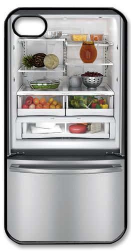 Funny Open Fridge Inside Food 2 Hard Plastic Case for Apple iPhone 5 4 4S   eBay