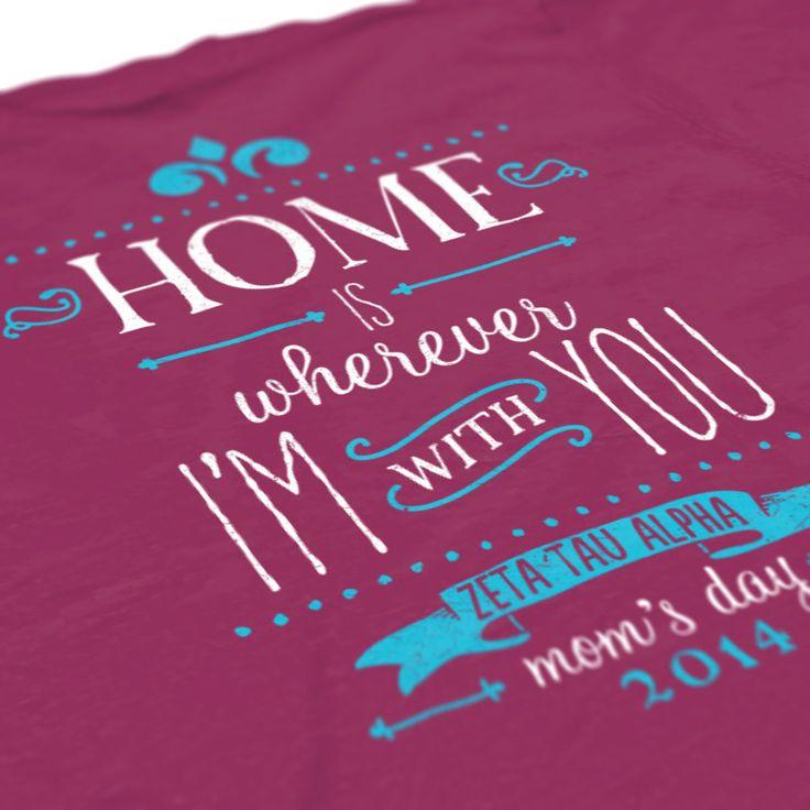 Zeta Tau Alpha - ZTA - Mom's Day Design - Sorority T-Shirts - ZTA - check out B-Unlimited.com