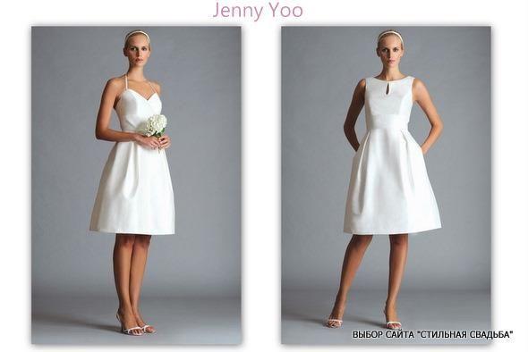 Короткое свадебное платье в деревенском стиле