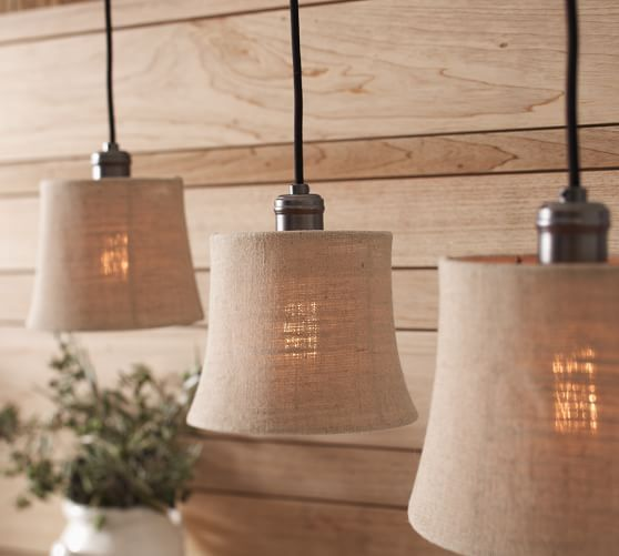 pottery barn track lighting. simple track burlap shade pendant track lighting  pottery barn on t