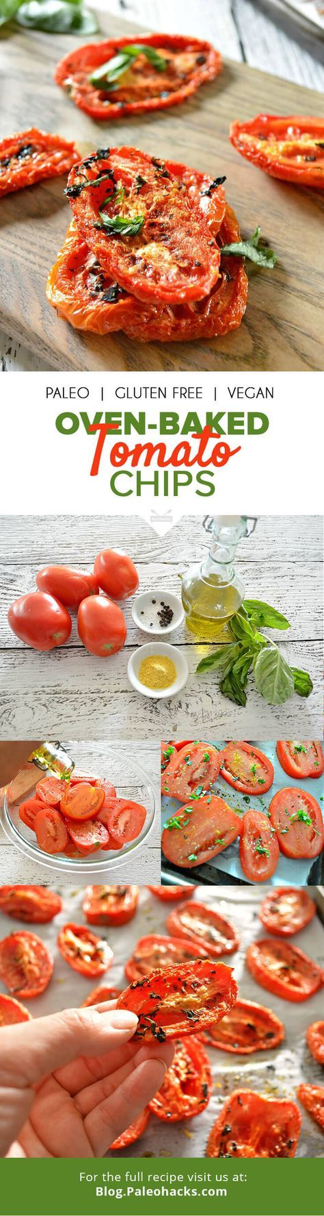Transform ordinary tomatoes into sweet, crispy, bite-sized tomato chips that are full of antioxidants and bursting with rustic flavor. No dehydrator is needed for this oven-baked recipe. For the full recipe visit us here: http://paleo.co/tomatochipsrcp