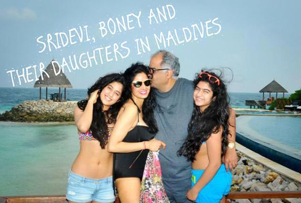 Just one week have completed from New Year many celebrities like Manish Malhotra, Karan Johar, brothers Sanjay and Anil Kapoor were in the dazzling city of Dubai but Boney Kapoor with his wife wife Sridevi and their two daughters went to Maldives.
