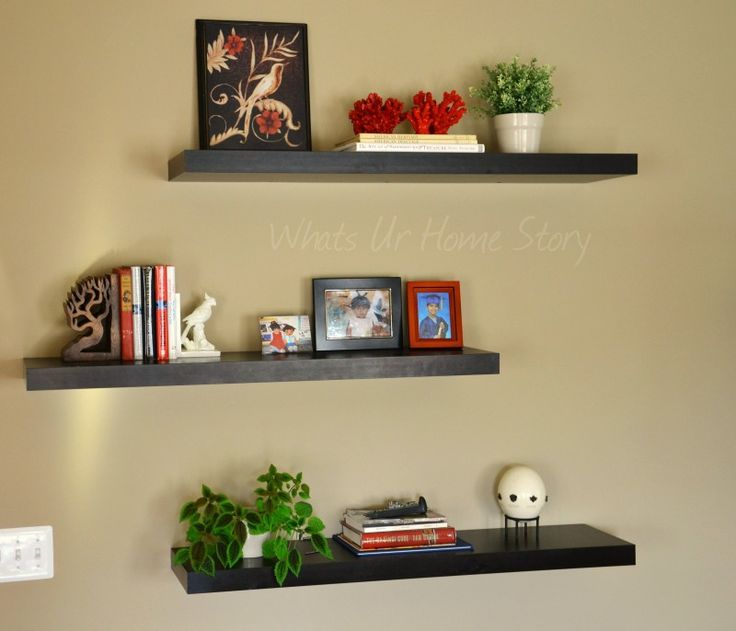 50 best images about floating shelves on pinterest Floating shelf ideas for kitchen