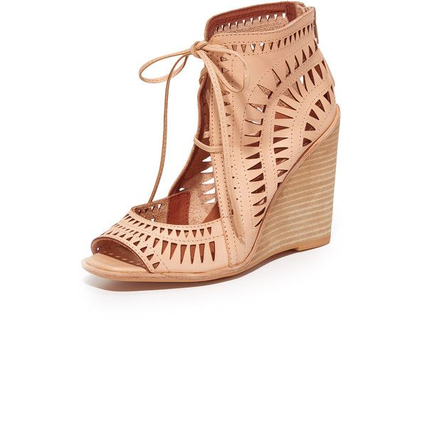 Shop Jeffrey Campbell Rodillo Wedge Sandals in Nude at Modalist |... (9,310 INR) via Polyvore featuring shoes, sandals, wedge heel sandals, nude wedge shoes, wedge heel shoes, wedge shoes and nude wedge sandal