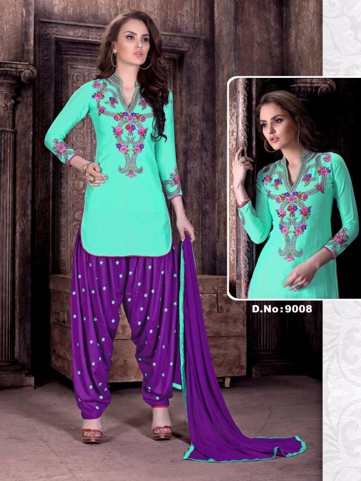 Click On Bazaar Purple and Firozi Color Cambric Cotton Patiala Salwar Suit - ClickOnBazar  #onlinepatiala #designerpatialasalwar #patialasalwarsuits #designerpatialasalwar #clickonbazaarpatialasuits
