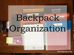 Backpack organization for any high school student | Sabrina's Organizing #backpack #idea #papermanagement