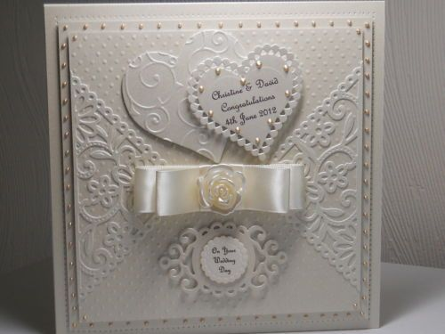 """8""""x8"""" WEDDING DAY ,ANNIVERSARY, ENGAGEMENT CARD WITH BOX"""