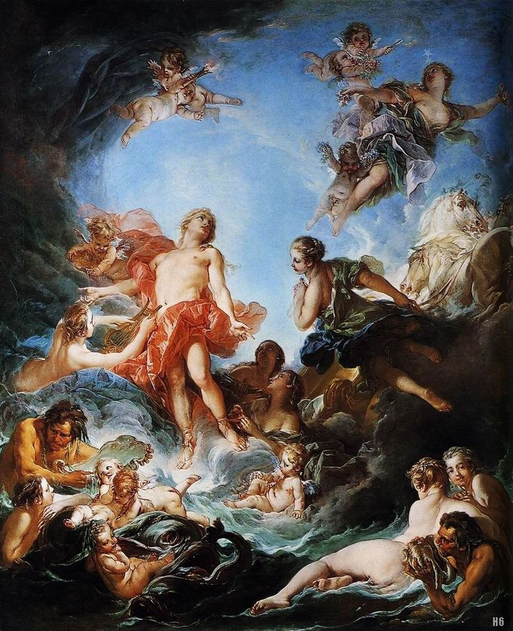 The Rising of the Sun. 1752. Francois Boucher. French 1703-1770. oil /canvas. http://hadrian6.tumblr.com