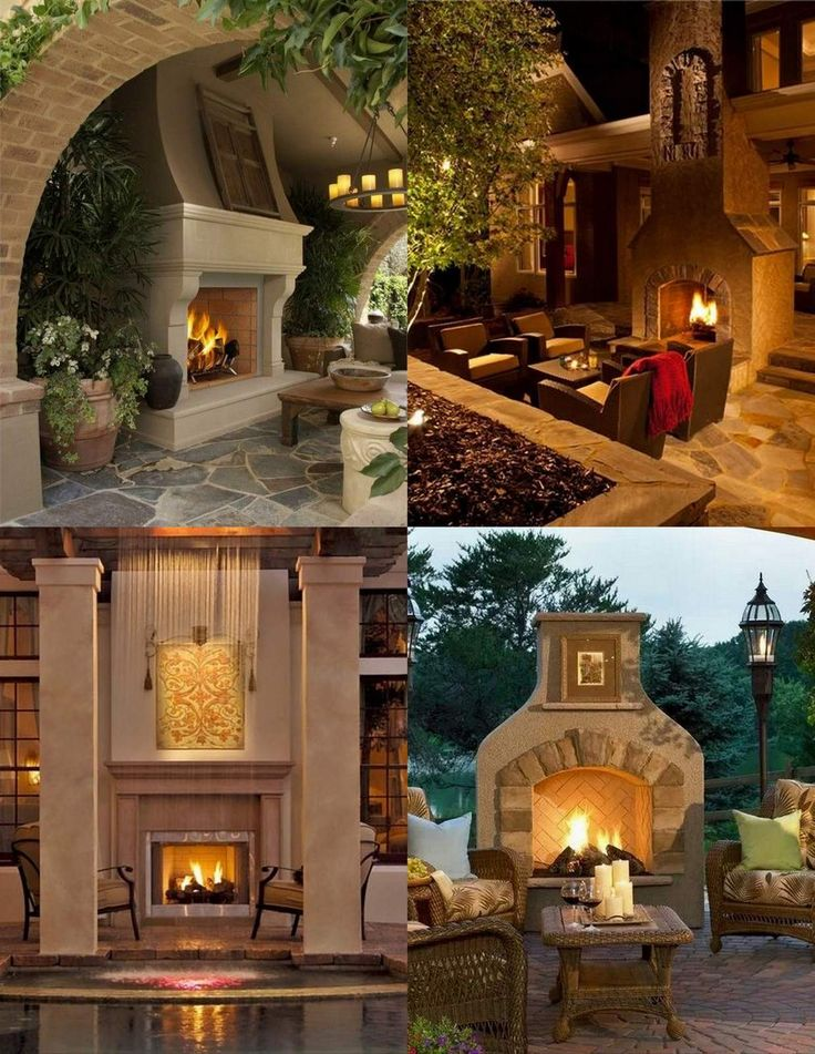 Lovely Outdoor Fireplace Mantel Ideas