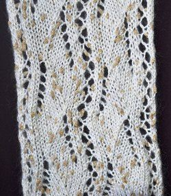 Moonshine Eyelet Panel Knit Scarf - a free knit scarf pattern - Crystal Palace Yarns