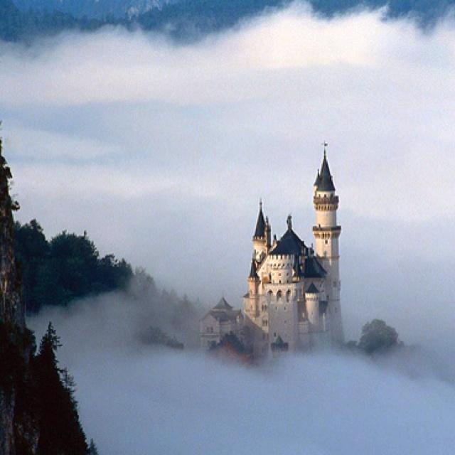 Neuschwanstein Castle in Germany, which Disney based Sleeping Beauty's Castle on.