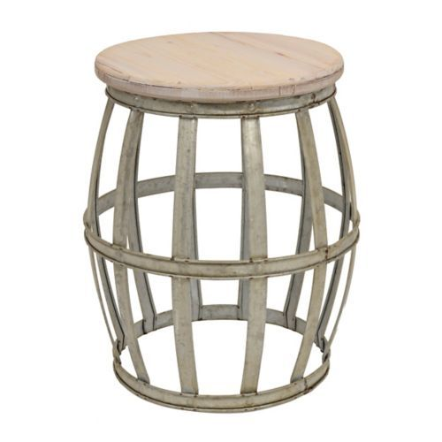 Awesome Woven Metal Accent Table