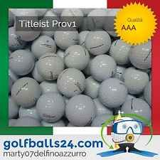 50 TITLEIST PROV1, PROV1X PALLINE PALLE DA GOLF USATE CAT. AAA