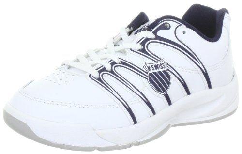 K-Swiss OPTIM IV CARPET M 52781-109-M, Scarpe da tennis unisex bambino, Bianco (Weiss (White / Navy 109)), 32 - http://www.sportsandoutdoorsx.com/sports-outdoors/kswiss-optim-iv-carpet-m-52781109m-scarpe-da-tennis-unisex-bambino-bianco-weiss-white-navy-109-32-it/