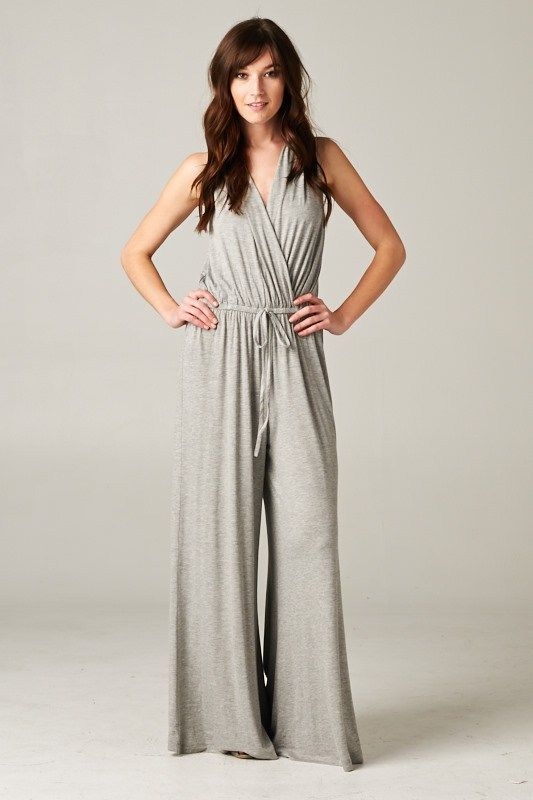 Madison Jumpsuit in Heather Gray | Awesome Selection of Chic Fashion Jewelry | Emma Stine Limited